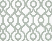 Artichoke Sage Green White Lyon Quatrefoil Trellis Curtains - Grommet - 84 96 108 or 120 Long by 25 or 50 Wide - Optional Blackout Lining