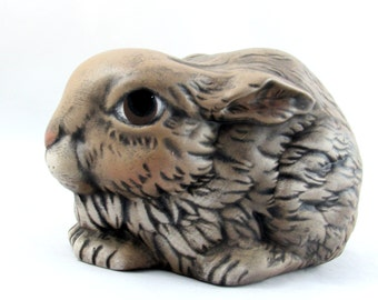 Adorable Medium Sized Ceramic Bunny for the Garden - 9 inches - hand painted Easter or Garden Bunny, indoor or outdoor, lawn or garden