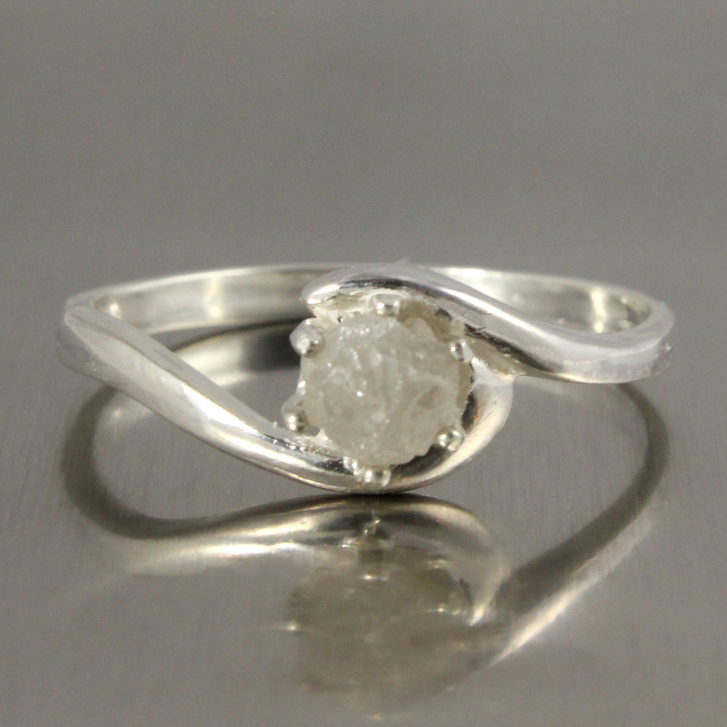 Uncut Diamond Ring Etsy Ring Raw Uncut Diamond