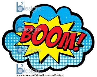 Superhero Signs • Boom, Pow, Zap, Bam • 8.5 x 11 • Instant Download