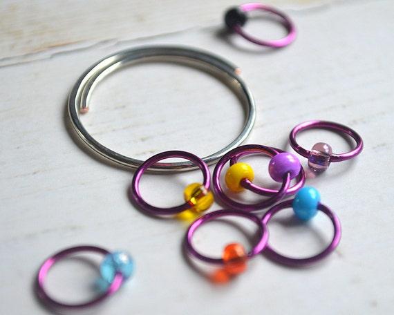 Confetti / Knitting Stitch Markers - Dangle Free Snag Free Stitch Markers - Small Medium Large Sizes Available