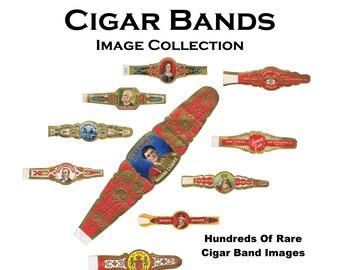 CIGAR BANDS Vintage Image Collection Hundreds Of Rare Antique Cigar Bands Digital Download