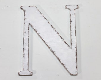 wooden letter n 18 inch wedding decor wood letters shabby