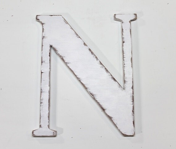 Wooden letter n 18 inch wedding decor wood for Letter n decorations