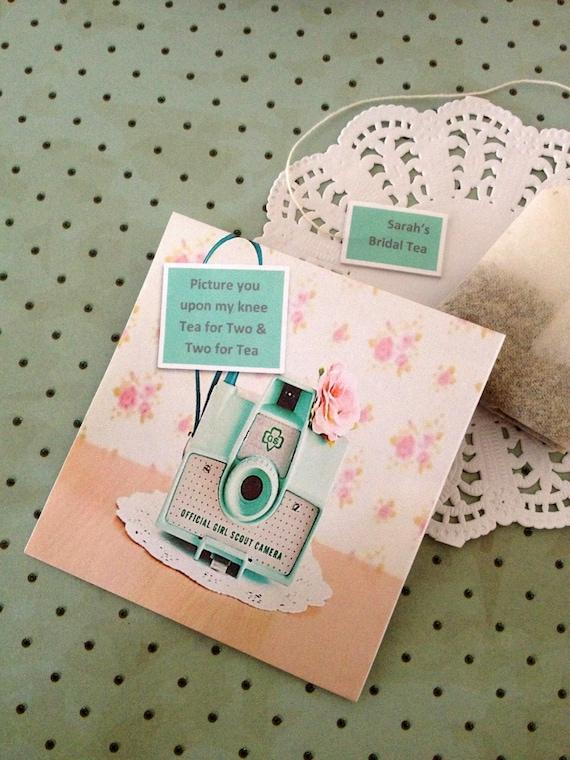 Tea Bags Favors Tea Bag Favor Retro Camera