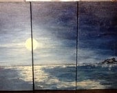 "painting, ""Seascape II"" triptych"