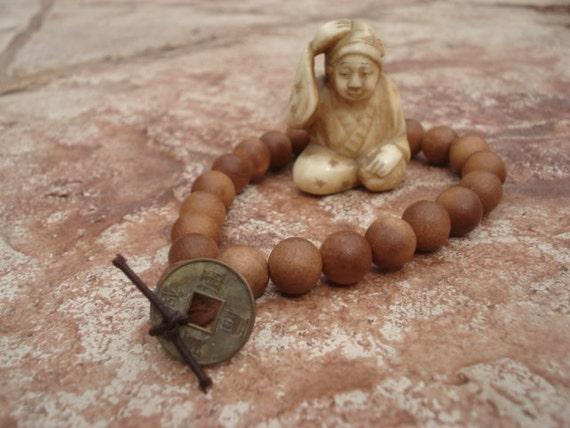 Sandalwood Bracelet, Wrist Mala, Mala Bracelet, Mala Bead Bracelet, Sandalwood Mala, Yoga Bracelet, Meditation Bracelet, Spiritual Jewelry
