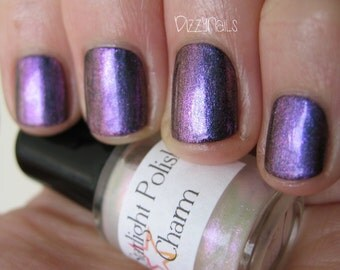 Charm Duochrome Shimmer Pink Violet Effect Top Coat Nail Lacquer Indie Starlight and Sparkles Polish