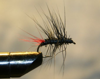 Fly Fishing Fly - Trout Flies - Flies for Fishing - Fly Fishing - Black and Red - Attractor - Made in Michigan - Trout - Fishing Lure
