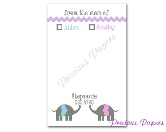 Personalized mom notepads  elephant personalized notepads  elephant mom notepads notes from mom