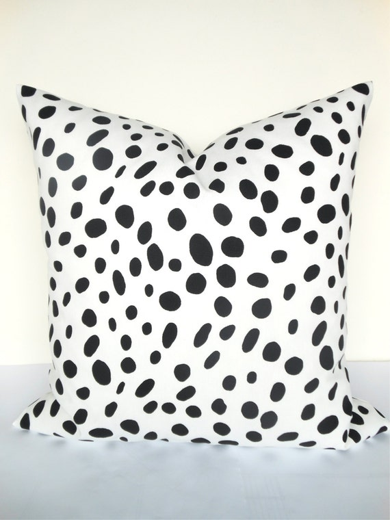 BLACK and WHITE PILLOWS Animal Print Decorative Pillow Covers