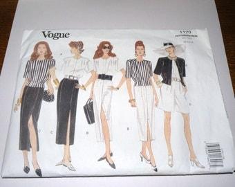 VOGUE 1170 Wardrobe Pattern 12-14-16 UNCUT