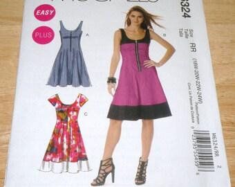 McCalls 6324 18W to 24W Dress pattern UNCUT