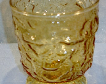 Milano Amber Old Fashioned Footed Tumbler, 4 in.
