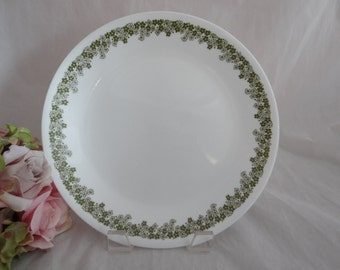 Green Crazy Daisy or Spring Blossom Corelle Salad Plate - Mid Century Retro Vintage Housewares - 5 Available