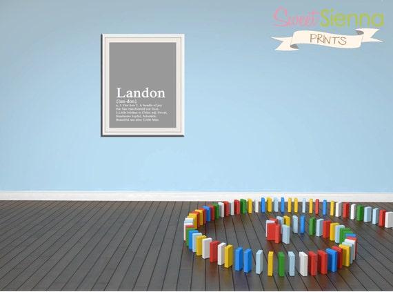 "Boy Dictionary Style Nursery decor, baby nursery art. Nursery Wall quote, typographic print, 5x7"" PDF Printable"