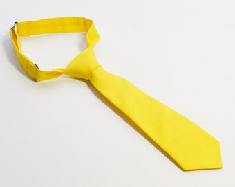 Yellow Neck Tie With Adjustable Strap