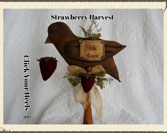 E Pattern   Primitive Strawberry Harvest pattern Click Your Heels