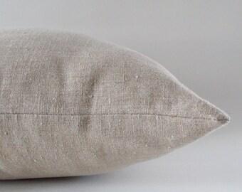 Natural Beige Linen Pillow, Cushion Linen Cover,  Decorative Throw Pillow, Natural Linen Pillow, 16,18,20,22,24,26,28,30 inches