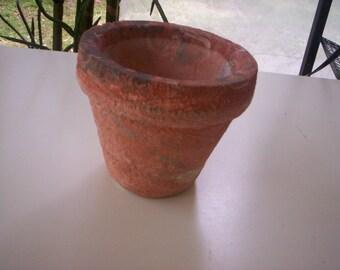 Chic Ceramic pot/clay/Vintage pot/Unglazed clay pot/Unglazed ceramic pot/Mixed clay pot/Pottery/Stoneware/Small Clay pot/ceramic planter