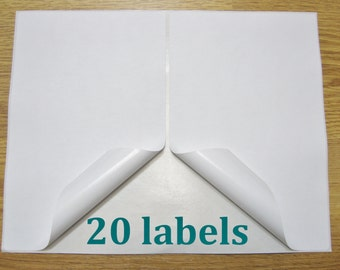 20 Shipping Labels Self Adhesive Printer Paper 8.5 x 5.5 Half Sheet USPS UPS FedEx PayPal Etsy Postage