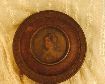 beautiful girl Victorian Rare Rowntree tin rare By Appointment Cocoa & Chocolate Makers To The King victorian steampunk antique english rare