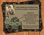 Army Tank Camo Invitation | Kids Birthday | Printable Digital File | KBI221DIY