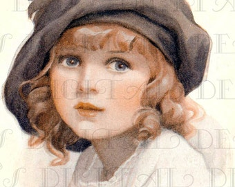 MOTHER'S Treasure. Vintage Edwardian Child  Illustration. Vintage Digital Download. Digital Printable Image Download.
