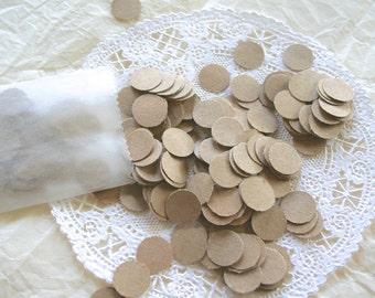 Jumbo Dots Kraft Paper Confetti
