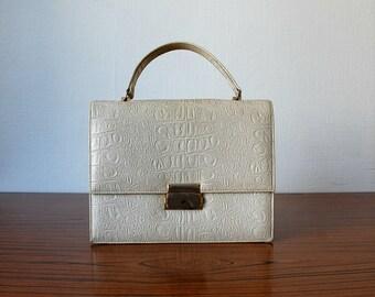 Vintage 1960's White Leather Purse
