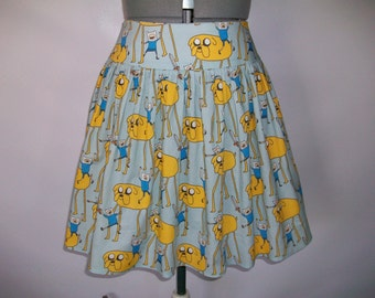 Cute Adventure Time  Finn and Jake Skirt
