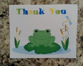 Printable Frog Thank you Cards