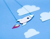 Rocket to the Moon Necklace