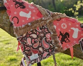 Cowgirl Tag Rag Blanket