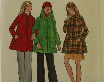 Jacket, Flared  - 1970's - Butterick Pattern 6807  Uncut  Size 14   Bust  34""
