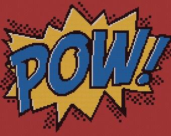 PDF PATTERN comic book POW! cross stitch