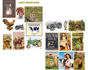 Sunnybrook Farm Digital Collage Set
