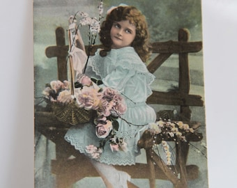 Antique Hand Painted 1918 Postcard