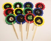 12ct Cupcake Toppers with Official Angry Birds Stickers