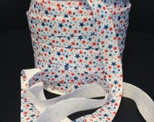 "5/8"" printed FOE Fold over elastic-Stars 4th of July- *US Seller* 2 yds *DIY headbands*  2 yards-Great for Hair ties!"