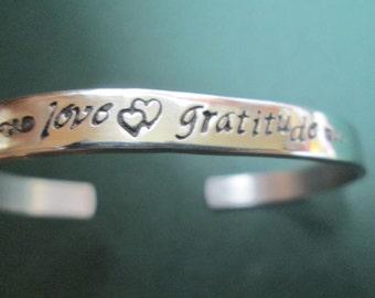 Love Gratitude bracelet Spiritually Inspired