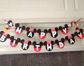 Boy Girl Twins Mickey and Minnie Birthday Banner Twins Party with Custom Names Option by FeistyFarmersWife
