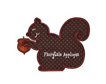 Digital Machine Embroidery Design - Squirrel Applique