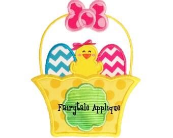 Digital Machine Embroidery Design -  Easter Basket