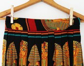 vintage 1980s EGYPT pharaoh novelty print MAXI skirt (XL)
