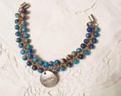 Natural Stone Hand Crocheted Beaded Bracelet