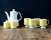 Made in Japan, complete tea set for four (teapot, teacups, milk jug, sugar bowl)