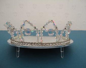 Vintage Diamante & AB Crystal Tiara/Crown - Bridal/Wedding - 1950s