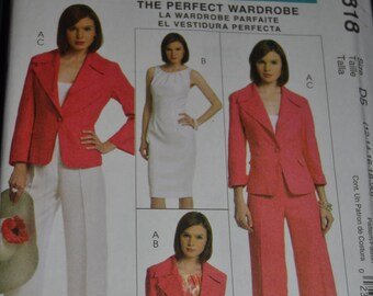 McCalls M5818 Misses  Lined Jacket Dress and Pants Sewing Pattern - UNCUT - Sizes 12 14 16 18 20