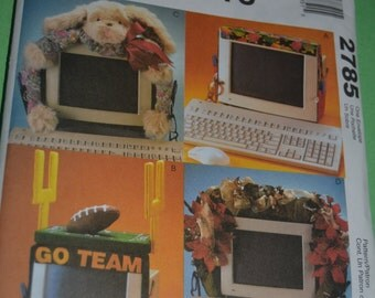 McCalls Crafts 2785 Computer Monitor Bands Sewing Pattern - UNCUT
